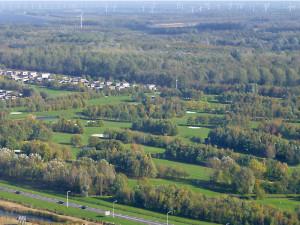 2015041803Volgelvlucht_golfbaan-Golfclub Flevoland