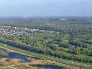 2015041804Volgelvlucht_golfbaan-Golfclub Flevoland